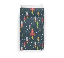 cartoon spaceships launch Duvet Cover