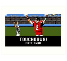 Tecmo Bowl Touchdown Matt Ryan Art Print