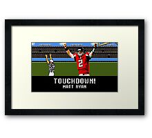 Tecmo Bowl Touchdown Matt Ryan Framed Print