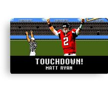 Tecmo Bowl Touchdown Matt Ryan Canvas Print