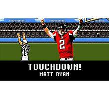 Tecmo Bowl Touchdown Matt Ryan Photographic Print
