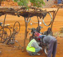 Street workshop near Mombasa, KENYA Sticker