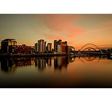 Newcastle Quayside At Dusk Photographic Print