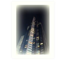 skyscrapers in the night Art Print