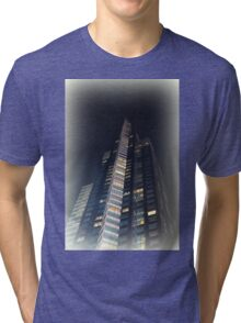 skyscrapers in the night Tri-blend T-Shirt