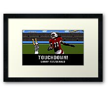 Tecmo Bowl Touchdown Larry Fitzgerald Framed Print