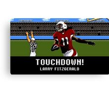 Tecmo Bowl Touchdown Larry Fitzgerald Canvas Print
