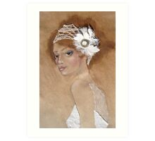 Ivory Headpeice Art Print