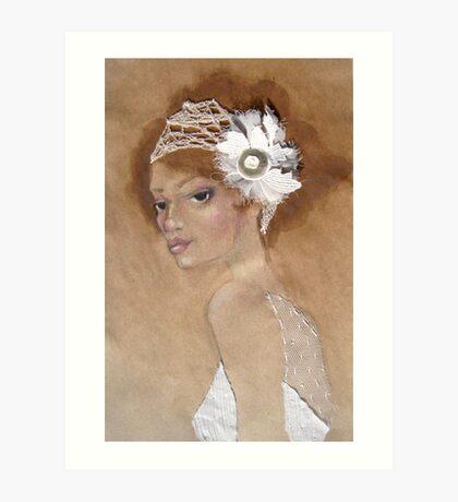 Ivory Headpeice Art Print