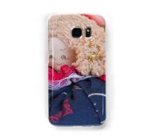 old doll fabric Samsung Galaxy Case/Skin