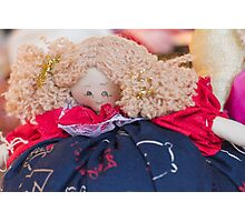 old doll fabric Photographic Print