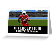 Tecmo Bowl Patrick Peterson Greeting Card