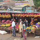 Street fruit market near Maungu, KENYA by Atanas NASKO