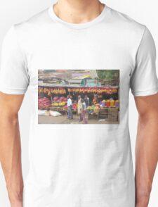 Street fruit market near Maungu, KENYA T-Shirt