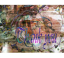 Thank you.Card. Photographic Print