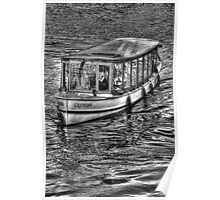 Tourist boat on the Amstel River Poster