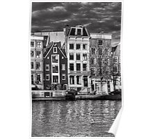 Houses on the Amstel River Poster