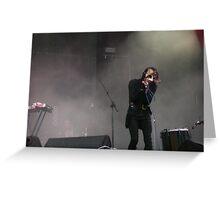 Chris Corner - IAMX - Live at Stare Misto festival - 2010 Greeting Card