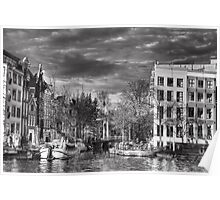 A canal joining the Amstel River Poster