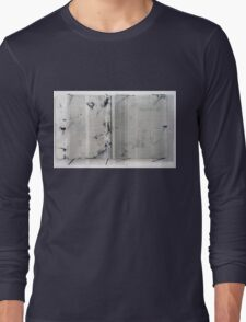 Diptych inspired by Robert Ashley's Libretto for 'Improvement (Don Leaves Linda)' Long Sleeve T-Shirt