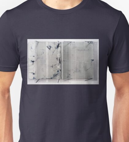 Diptych inspired by Robert Ashley's Libretto for 'Improvement (Don Leaves Linda)' Unisex T-Shirt