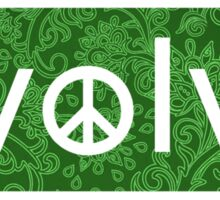 Evolve: Coexist in Peace (green floral version) Sticker
