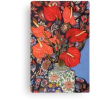 Anthurium Lilies Canvas Print