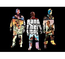 Grand Theft Auto 5, 3 Silhouettes Photographic Print