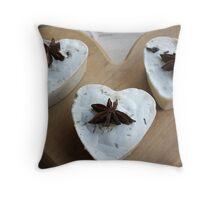 handmade soap heart Throw Pillow
