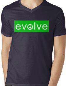 Evolve: Coexist in Peace (green version) Mens V-Neck T-Shirt