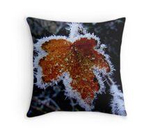 Winter Leaf. Throw Pillow