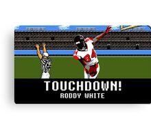 Tecmo Bowl Touchdown Roddy White Canvas Print