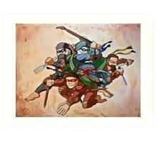 Dead Genius Ninja Artists Art Print