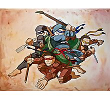 Dead Genius Ninja Artists Photographic Print