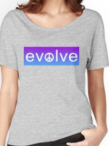 Evolve: Coexist in Peace (purple fade version) Women's Relaxed Fit T-Shirt