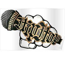 Hip-Hop Micro White Poster