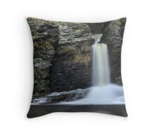 Deer Leap Falls Throw Pillow