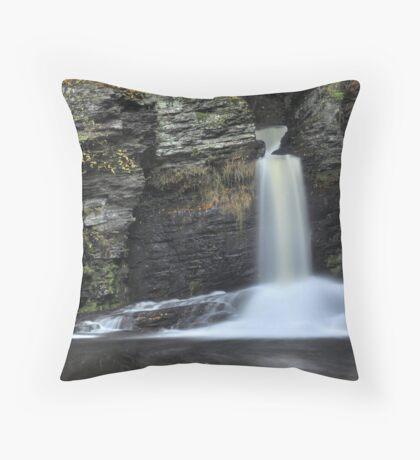 Deer Leap Falls Throw Pillow