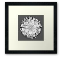 Abstract 3D Paper City  Framed Print