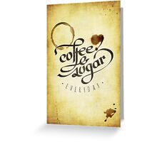 Coffee and Sugar Greeting Card
