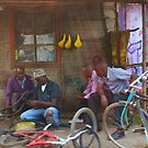 Bike workshop in Nairobi, KENYA by Bruno Beach