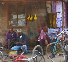 Bike workshop in Nairobi, KENYA by Atanas Bozhikov Nasko