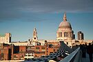 St Paul's Cathedral from the Millennium Bridge, London, UK. by DonDavisUK