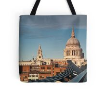 St Paul's Cathedral from the Millennium Bridge, London, UK. Tote Bag