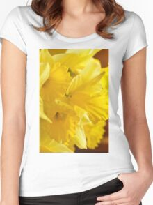 Daffodils, As Is Women's Fitted Scoop T-Shirt