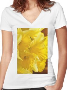 Daffodils, As Is Women's Fitted V-Neck T-Shirt