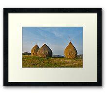 Hay Stockpiles Framed Print