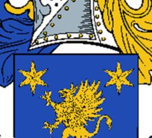 Coat of arms (family crest) for last-name or surname Short . Heraldry banner for your name. Sticker