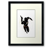 The Flash silhouette  Framed Print