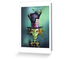Dark Mad Hatter Greeting Card